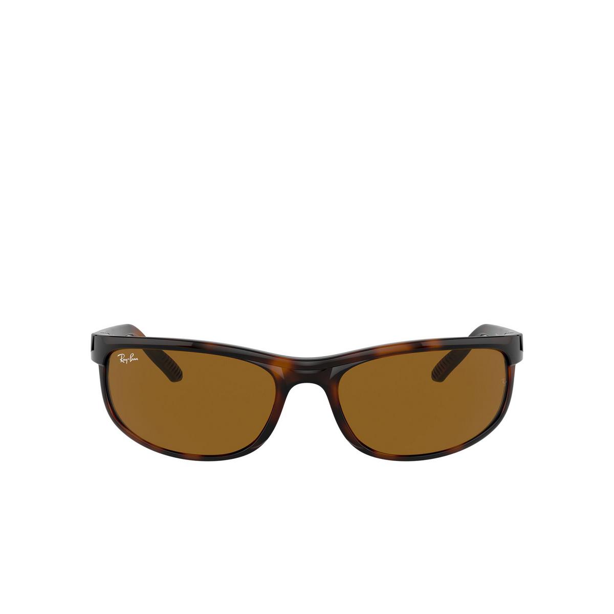 Ray-Ban® Rectangle Sunglasses: Predator 2 RB2027 color Dark Havana 650833 - front view.