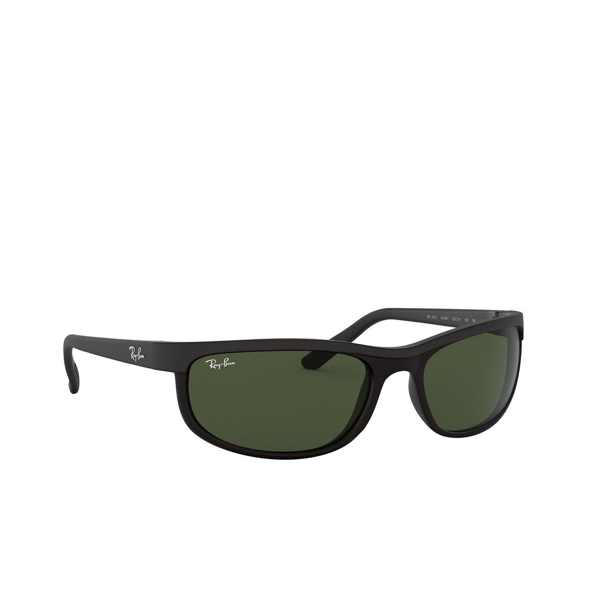 Ray-Ban® Rectangle Sunglasses: Predator 2 RB2027 color Black W1847 - 2/3.