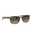 Ray-Ban® Square Sunglasses: RB2184 color Grey Gradient Brown Striped 125471 - product thumbnail 2/3.
