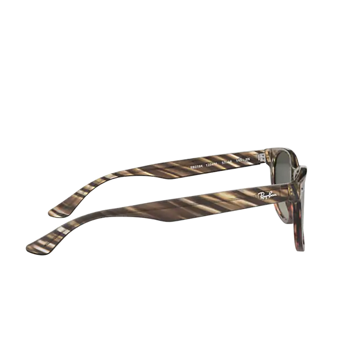 Ray-Ban® Square Sunglasses: RB2184 color Grey Gradient Brown Striped 125471 - 3/3.