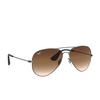 Ray-Ban® Aviator Sunglasses: RB3558 color Matte Black Antique 913913 - product thumbnail 2/3.