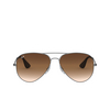 Ray-Ban® Aviator Sunglasses: RB3558 color Matte Black Antique 913913 - product thumbnail 1/3.
