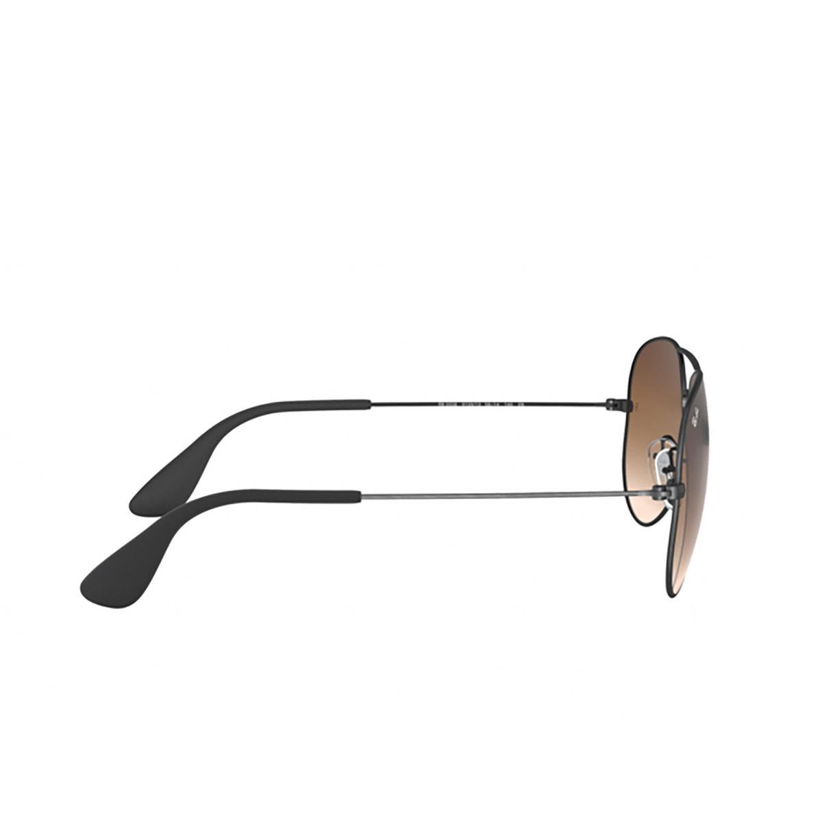 Ray-Ban® Aviator Sunglasses: RB3558 color Matte Black Antique 913913 - 3/3.