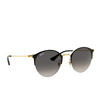Ray-Ban® Round Sunglasses: RB3578 color Black On Arista 187/11 - product thumbnail 2/3.