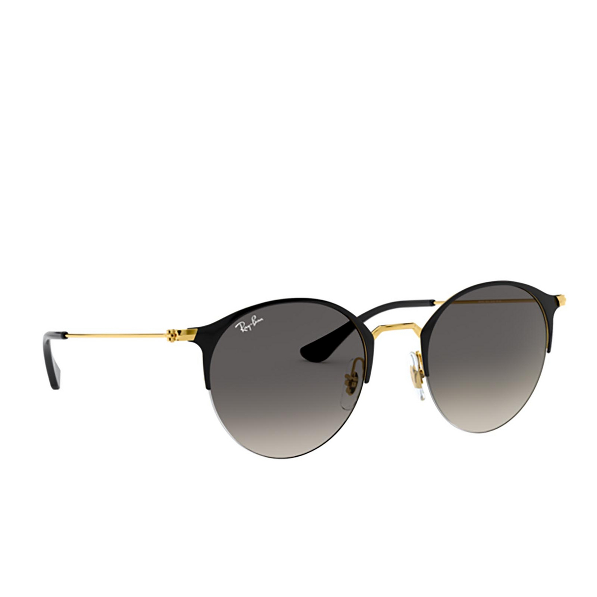 Ray-Ban® Round Sunglasses: RB3578 color Black On Arista 187/11 - 2/3.