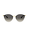 Ray-Ban® Round Sunglasses: RB3578 color Black On Arista 187/11 - product thumbnail 1/3.