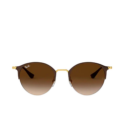 Ray-Ban® Round Sunglasses: RB3578 color Gold Top Brown 900913.