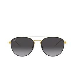 Ray-Ban® Round Sunglasses: RB3589 color Gold Top On Black 90548G.