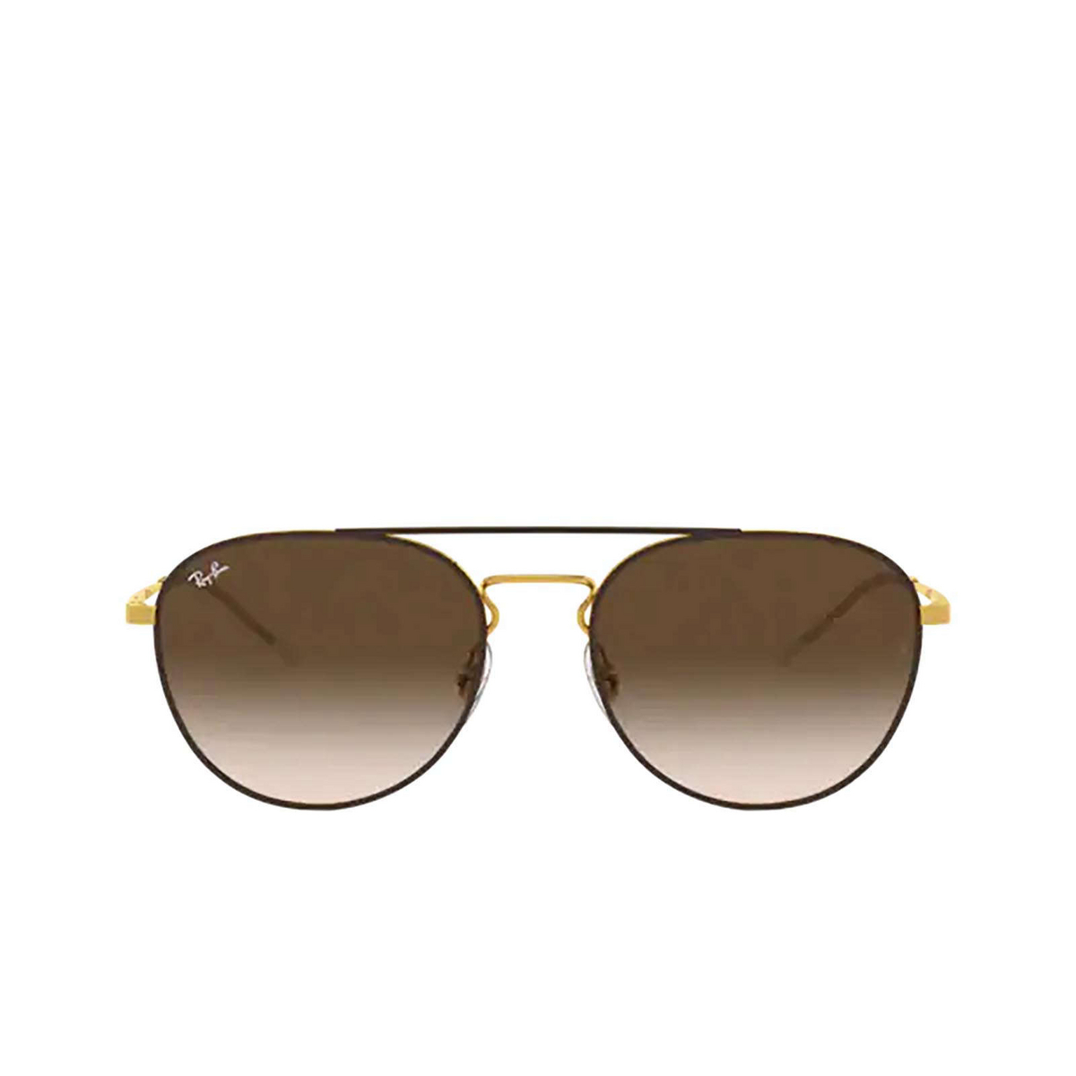 Ray-Ban® Round Sunglasses: RB3589 color Gold Top On Brown 905513 - 1/3.