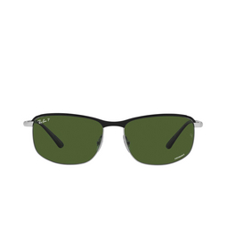 Ray-Ban® Sunglasses: RB3671CH color Black On Silver 9144P1.