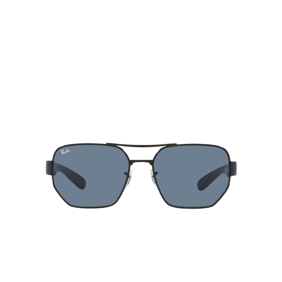 Ray-Ban® Irregular Sunglasses: RB3672 color Black 002/80 - front view.
