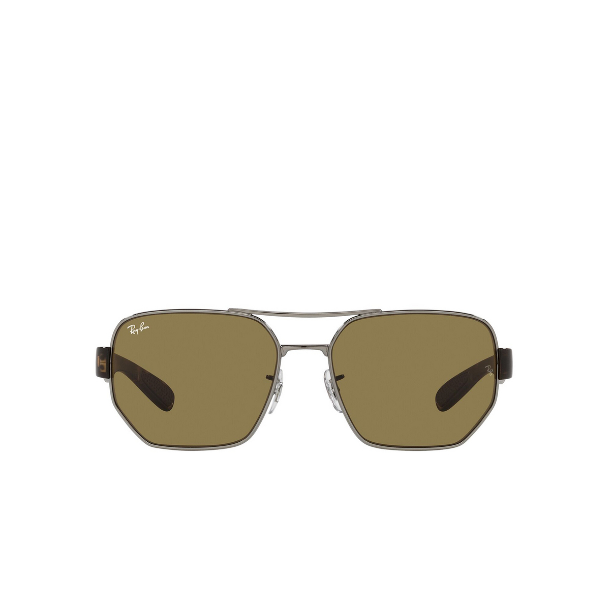 Ray-Ban® Irregular Sunglasses: RB3672 color Gunmetal 004/73 - front view.