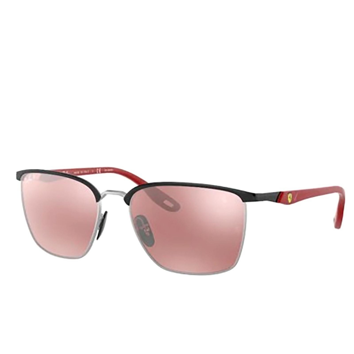 Ray-Ban® Square Sunglasses: RB3673M color Black On Silver F060H2.