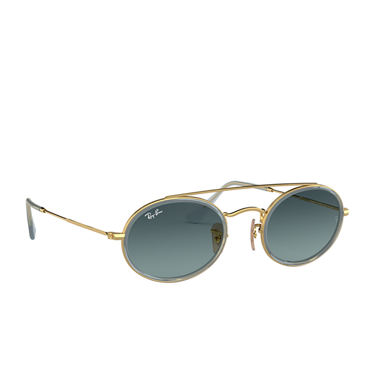 Ray-Ban® Oval Sunglasses: RB3847N color Arista 91233M - three-quarters view.