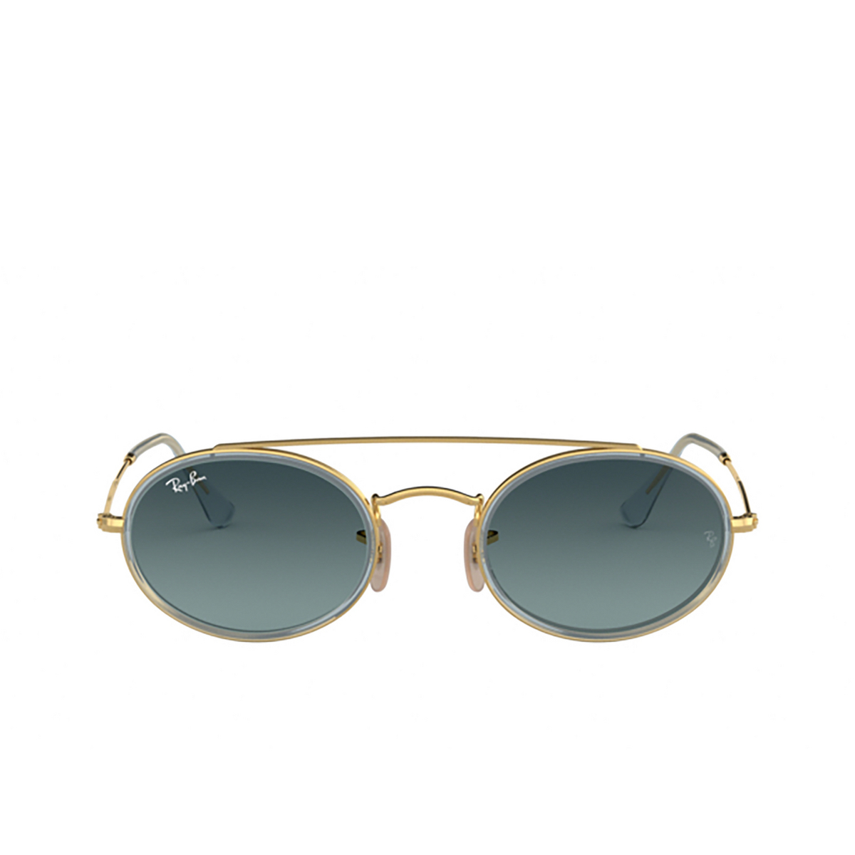 Ray-Ban® Oval Sunglasses: RB3847N color Arista 91233M - front view.