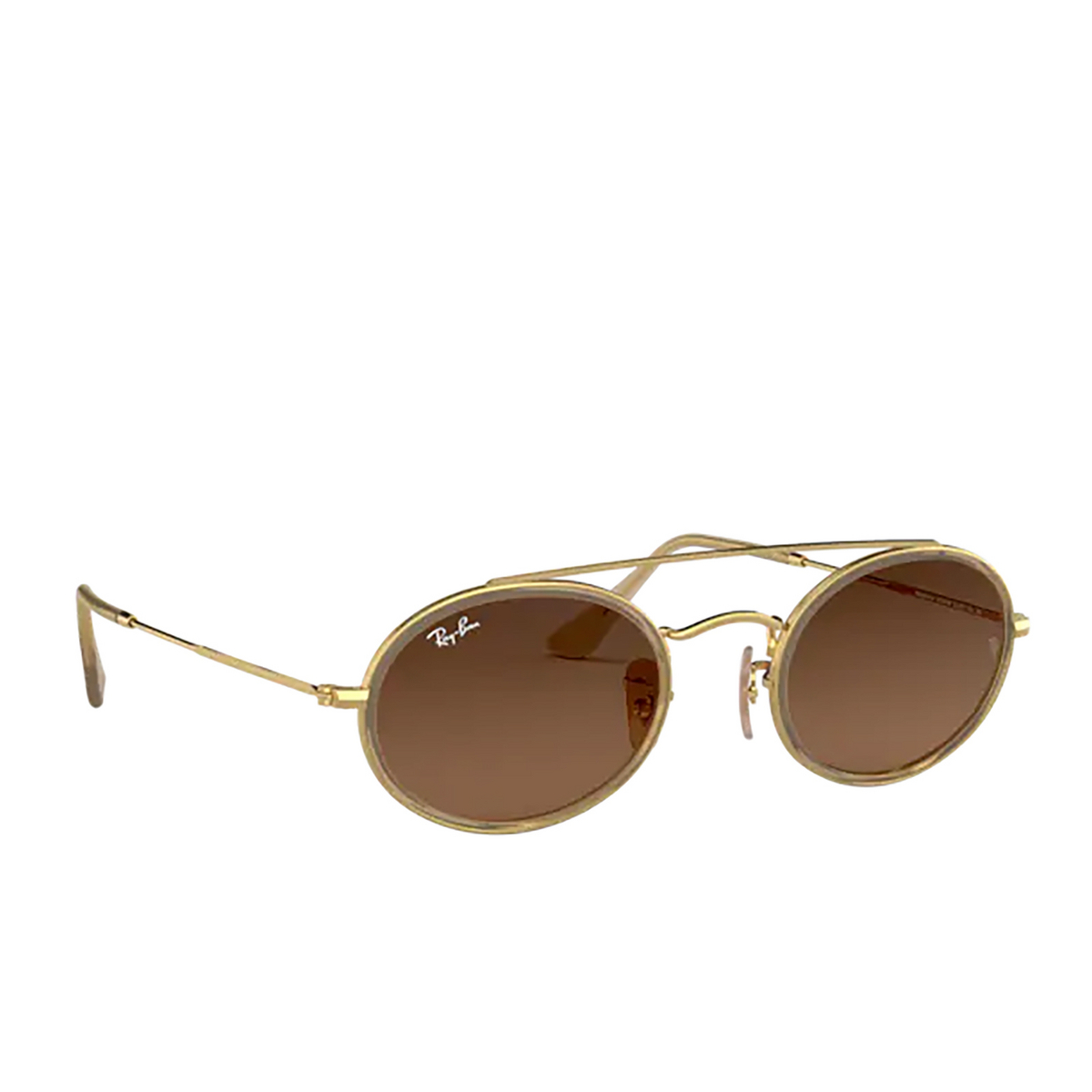 Ray-Ban® Oval Sunglasses: RB3847N color Arista 912443 - three-quarters view.