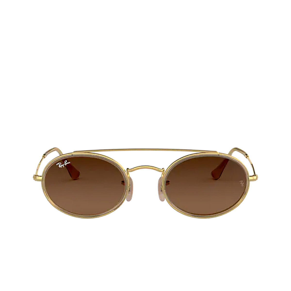 Ray-Ban® Oval Sunglasses: RB3847N color Arista 912443 - front view.
