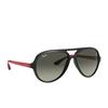 Ray-Ban® Aviator Sunglasses: RB4125M color Black F64471 - product thumbnail 2/3.