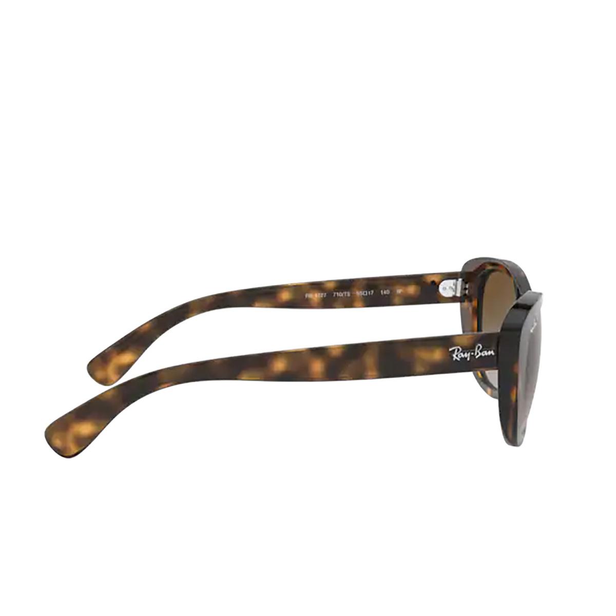 Ray-Ban® Square Sunglasses: RB4227 color Light Havana 710/T5 - 3/3.