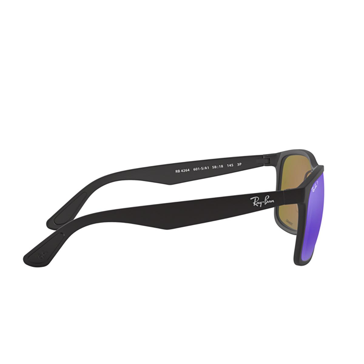 Ray-Ban® Square Sunglasses: RB4264 color Matte Black 601SA1 - 3/3.
