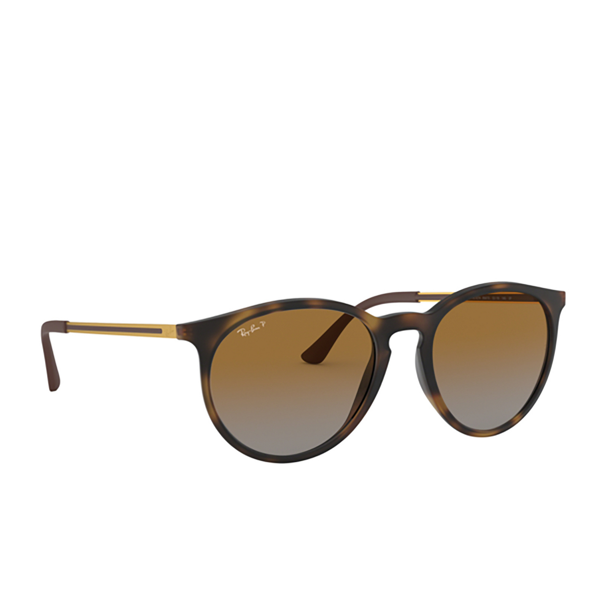 Ray-Ban® Round Sunglasses: RB4274 color Rubber Havana 856/T5 - 2/3.