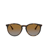 Ray-Ban® Round Sunglasses: RB4274 color Rubber Havana 856/T5 - product thumbnail 1/3.