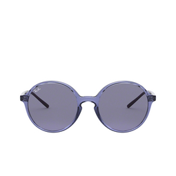 Ray-Ban® Round Sunglasses: RB4304 color Transparent Violet 643580.