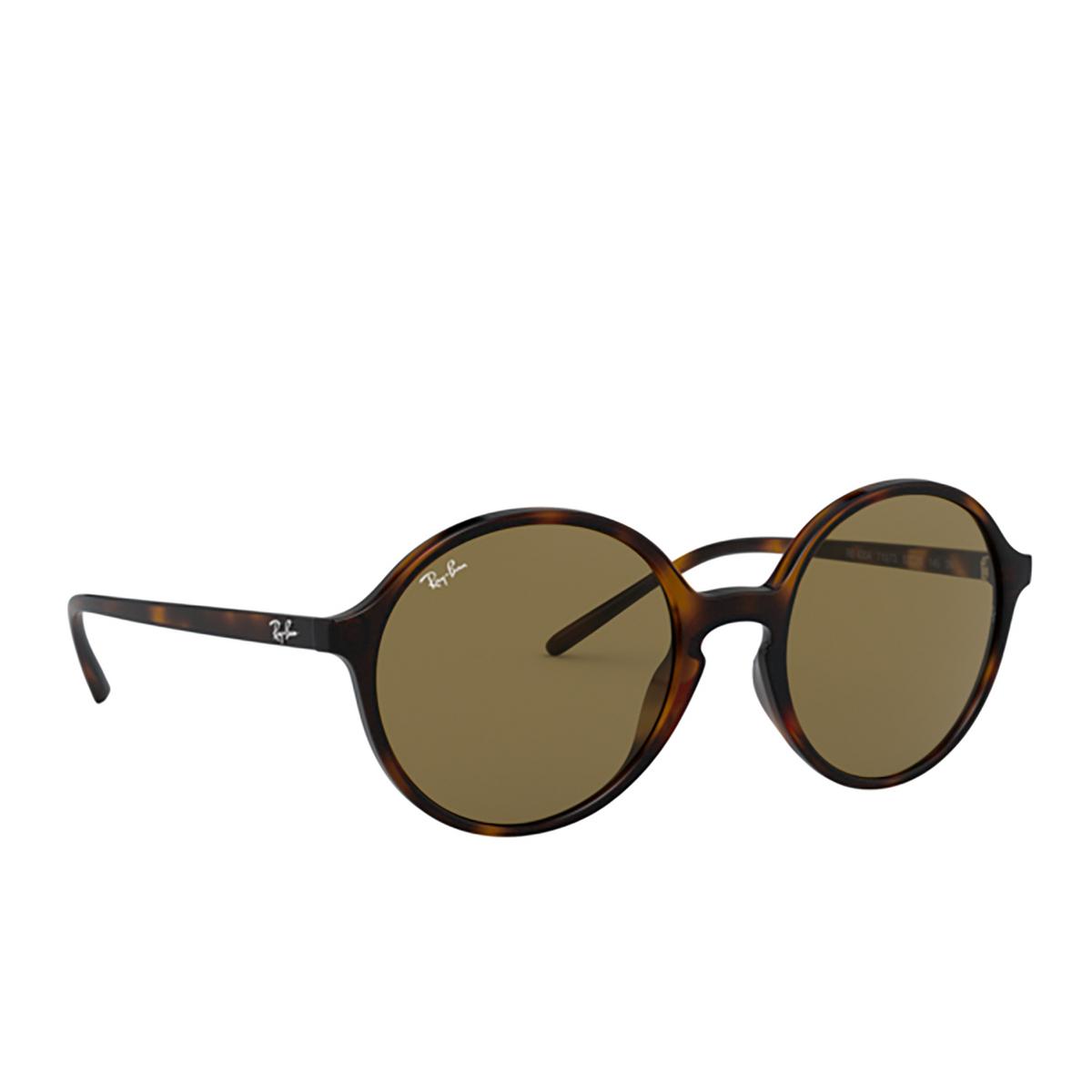 Ray-Ban® Round Sunglasses: RB4304 color Havana 710/73 - 2/3.