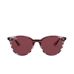 Ray-Ban® Round Sunglasses: RB4305 color Striped Bordeaux Havana 643175.