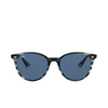 Ray-Ban® Round Sunglasses: RB4305 color Striped Blue Havana 643280 - product thumbnail 1/3.