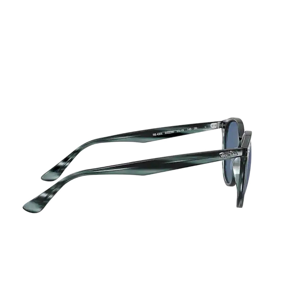 Ray-Ban® Round Sunglasses: RB4305 color Striped Blue Havana 643280 - 3/3.