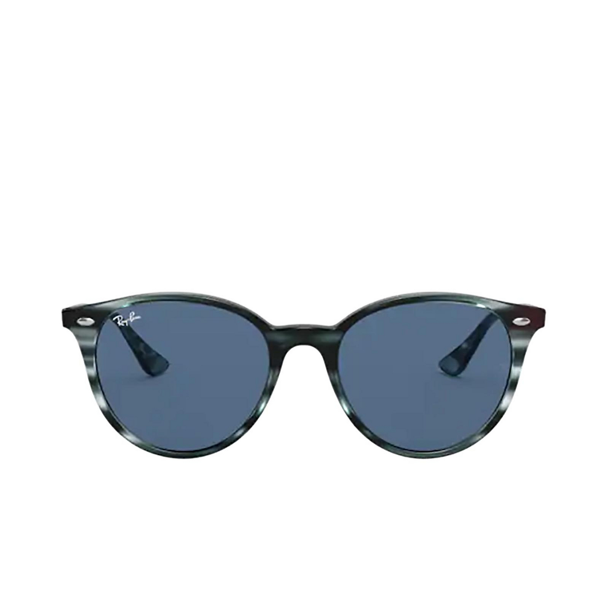 Ray-Ban® Round Sunglasses: RB4305 color Striped Blue Havana 643280 - 1/3.