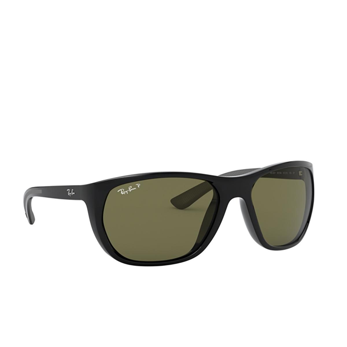 Ray-Ban® Square Sunglasses: RB4307 color Black 601/9A - 2/3.