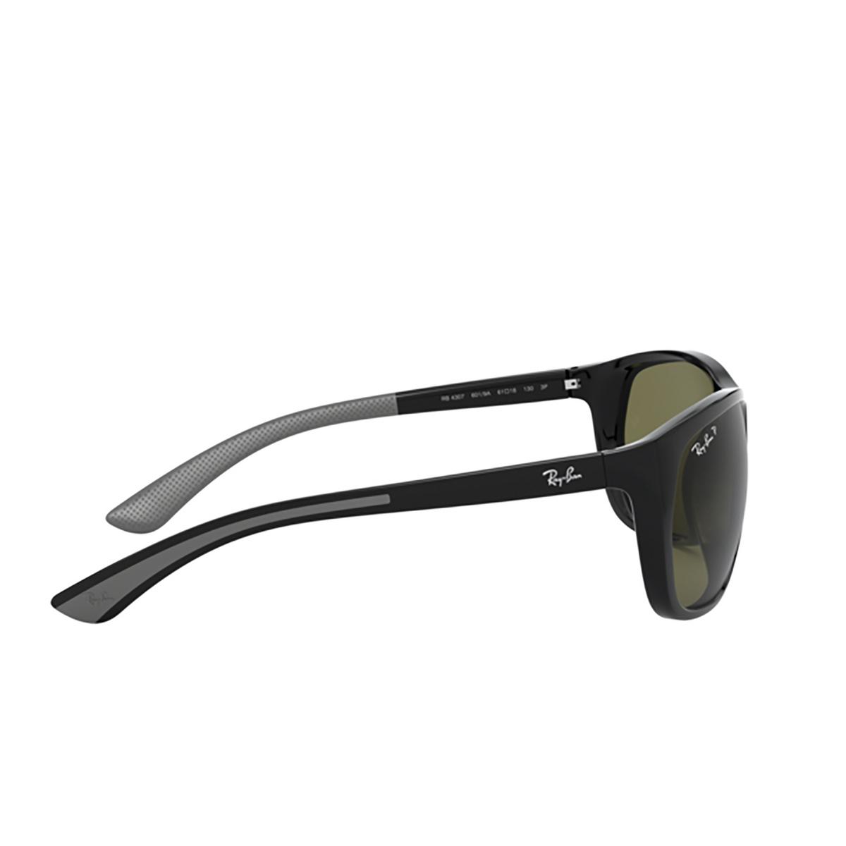Ray-Ban® Square Sunglasses: RB4307 color Black 601/9A - 3/3.