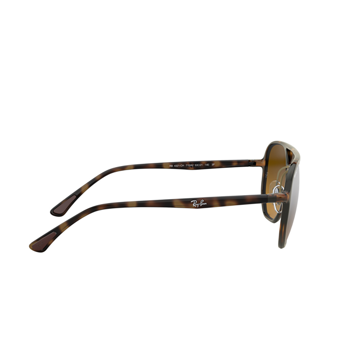 Ray-Ban® Square Sunglasses: RB4321CH color Light Havana 710/A2 - 3/3.
