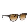 Ray-Ban® Square Sunglasses: RB4324 color Light Havana 710/51 - product thumbnail 2/3.