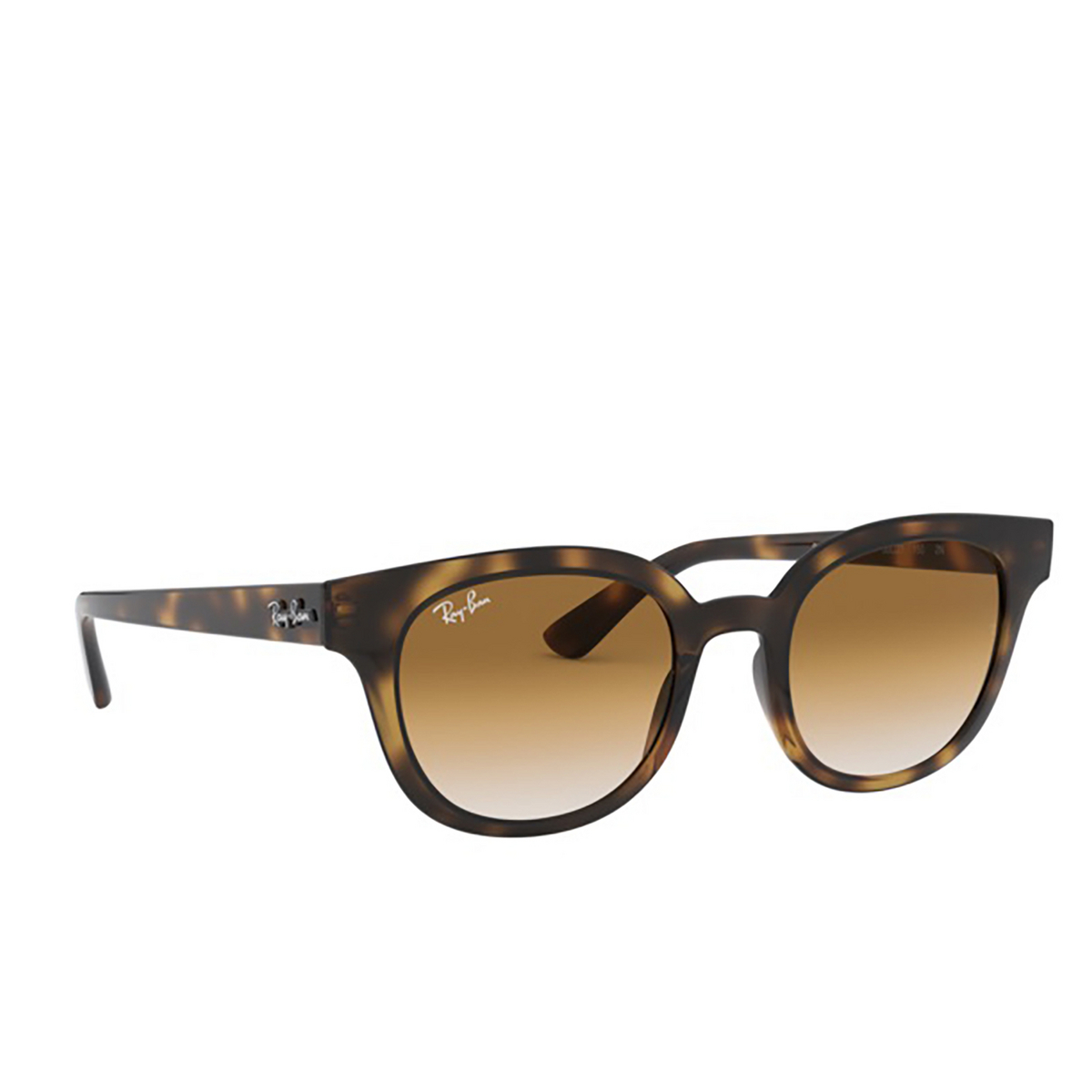 Ray-Ban® Square Sunglasses: RB4324 color Light Havana 710/51 - 2/3.
