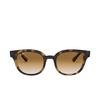 Ray-Ban® Square Sunglasses: RB4324 color Light Havana 710/51 - product thumbnail 1/3.