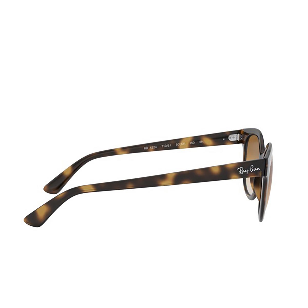 Ray-Ban® Square Sunglasses: RB4324 color Light Havana 710/51 - 3/3.
