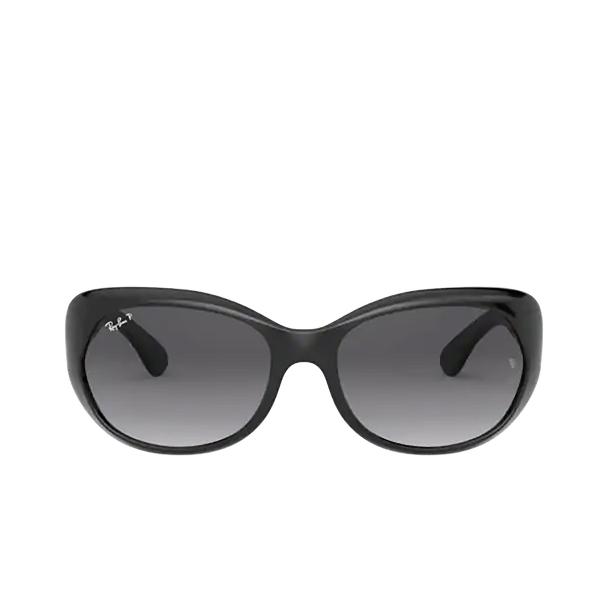 Ray-Ban® Oval Sunglasses: RB4325 color Black 601/T3 - front view.