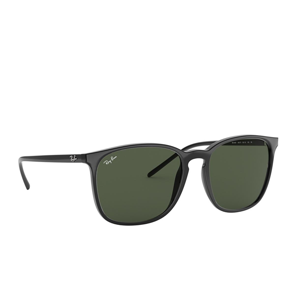Ray-Ban® Square Sunglasses: RB4387 color Black 601/71 - 2/3.