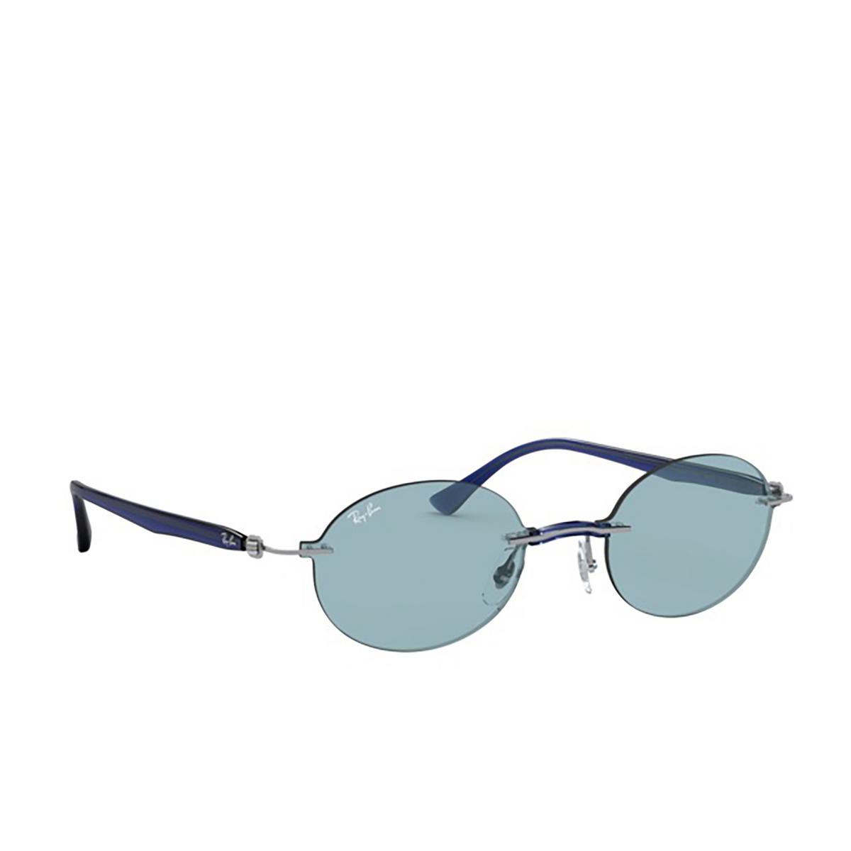 Ray-Ban® Oval Sunglasses: RB8060 color Gunmetal 004/80 - 2/3.