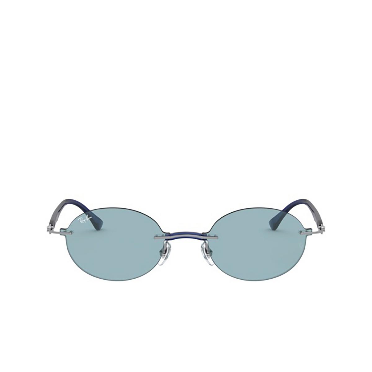 Ray-Ban® Oval Sunglasses: RB8060 color Gunmetal 004/80 - 1/3.