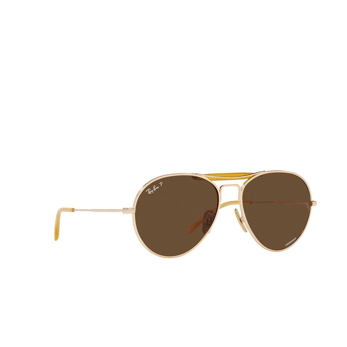 Ray-Ban® Aviator Sunglasses: RB8063 color Arista 9205AN - three-quarters view.