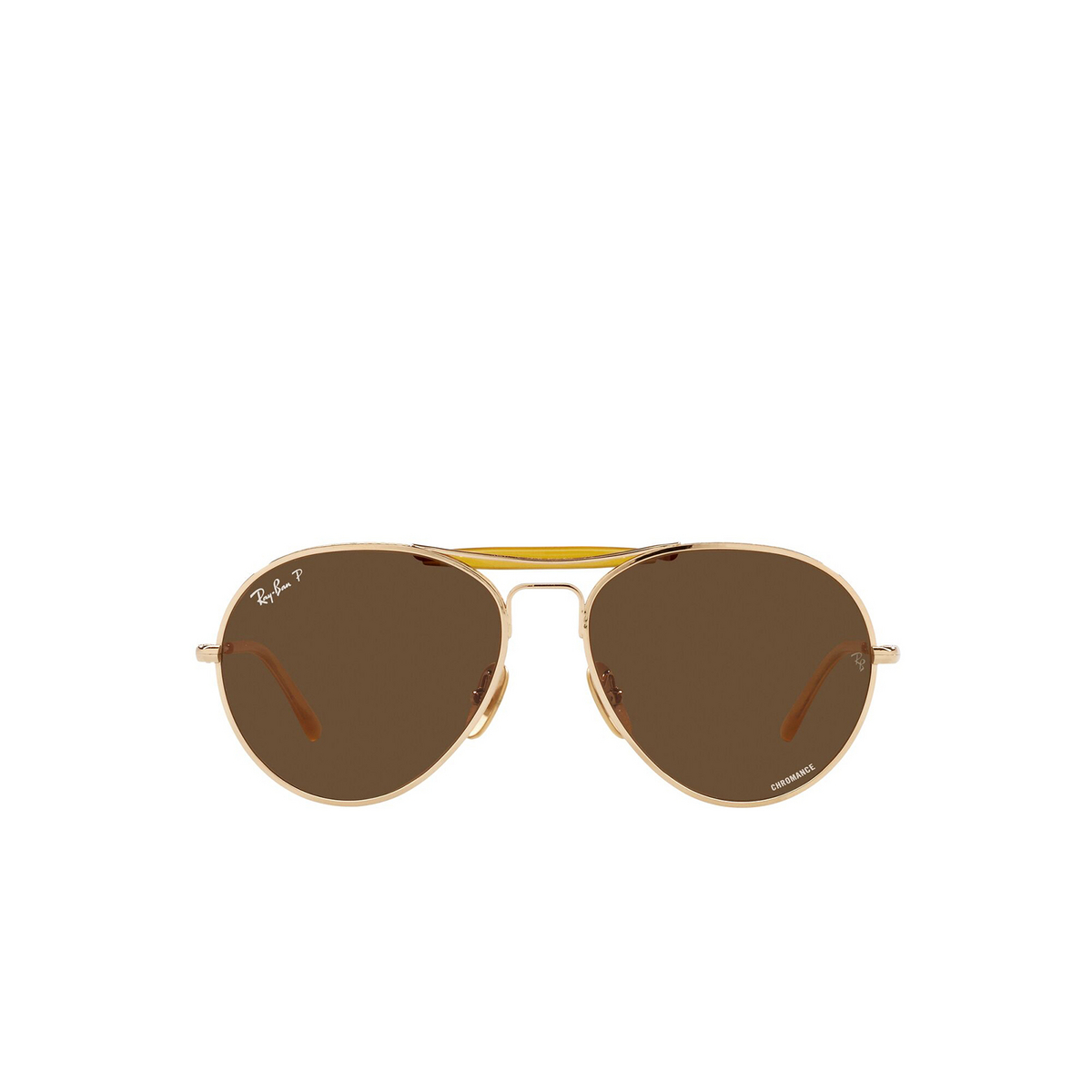 Ray-Ban® Aviator Sunglasses: RB8063 color Arista 9205AN - front view.