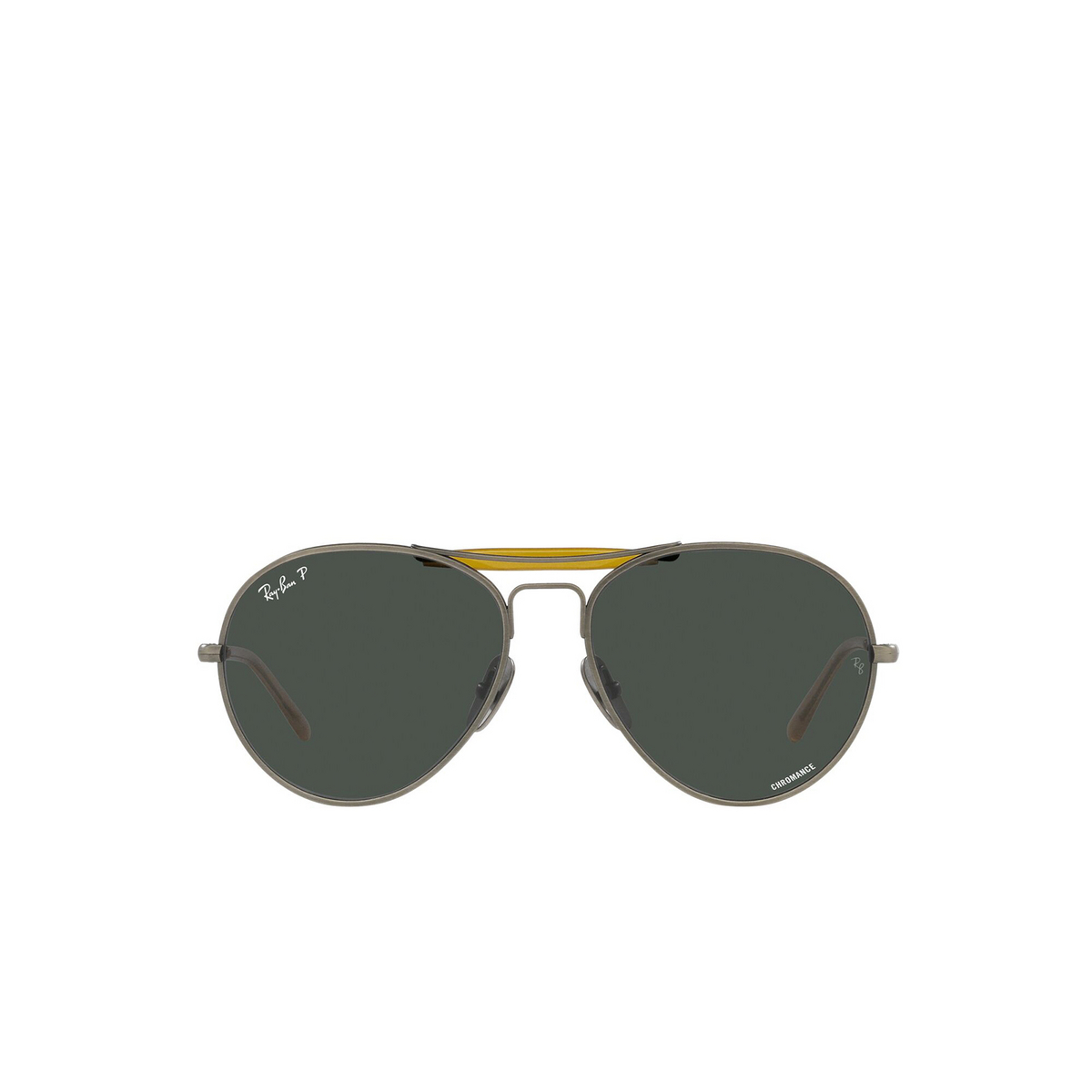 Ray-Ban® Aviator Sunglasses: RB8063 color Demi Gloss Pewter 9208K8 - front view.
