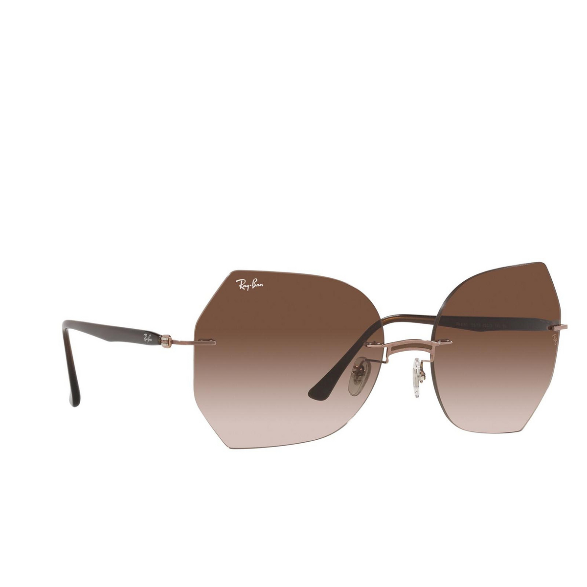 Ray-Ban® Irregular Sunglasses: RB8065 color Brown On Light Brown 155/13.
