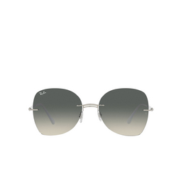 Ray-Ban® Irregular Sunglasses: RB8066 color White On Silver 003/11.