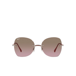 Ray-Ban® Irregular Sunglasses: RB8066 color Red On Silver 003/14.