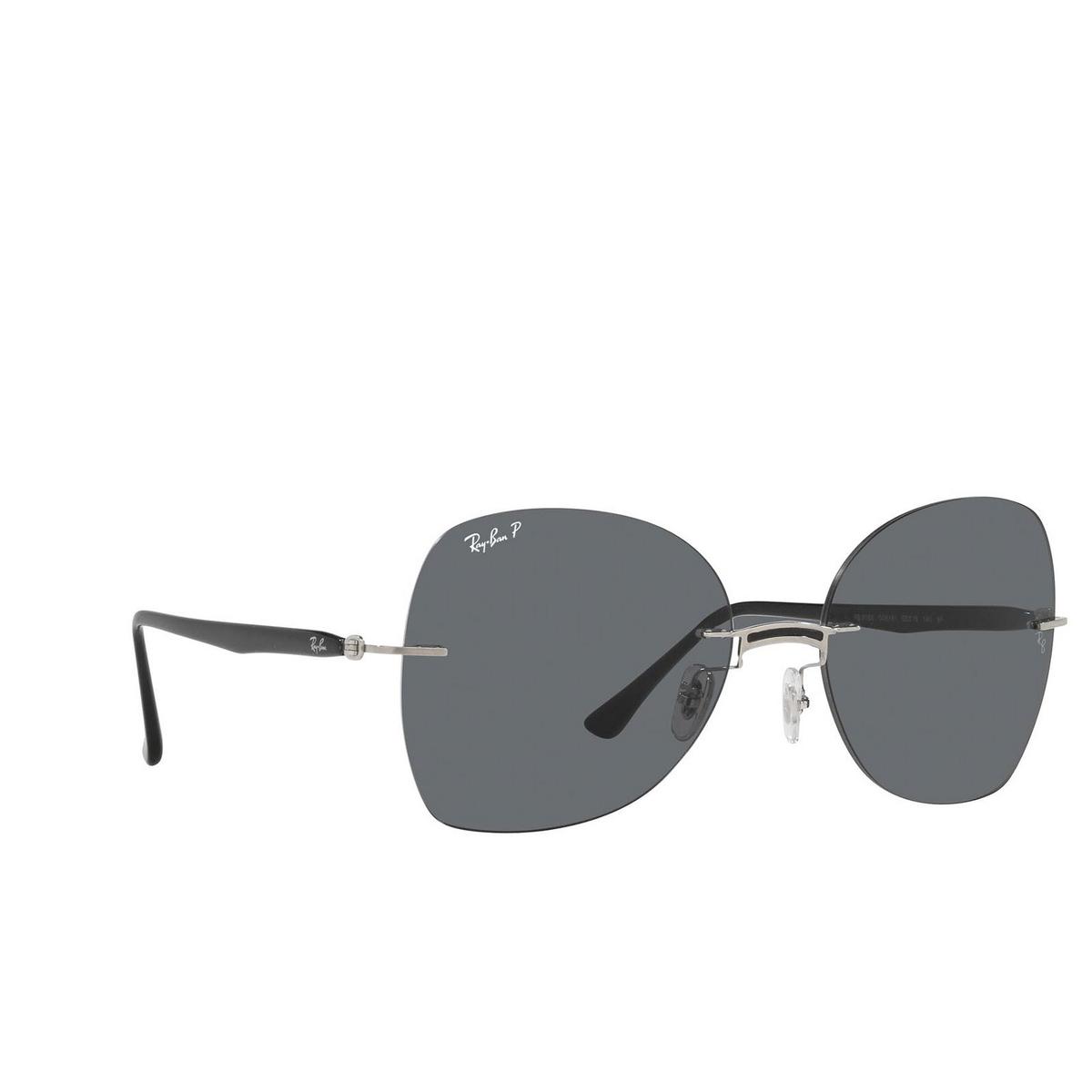 Ray-Ban® Irregular Sunglasses: RB8066 color Black On Silver 003/81.